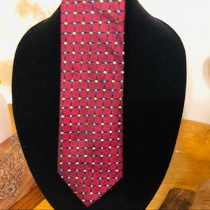 Alexander Julian Paisley Colours Red Tie
